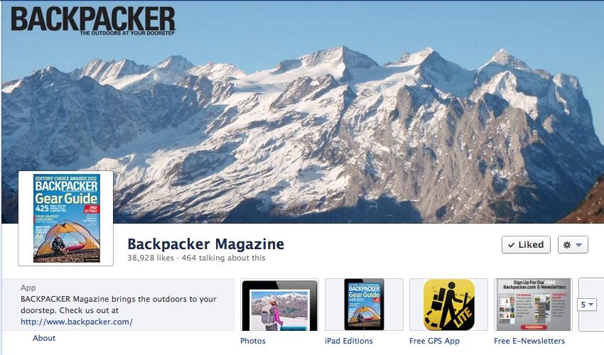 Backpacker Magazine Facebook Timeline