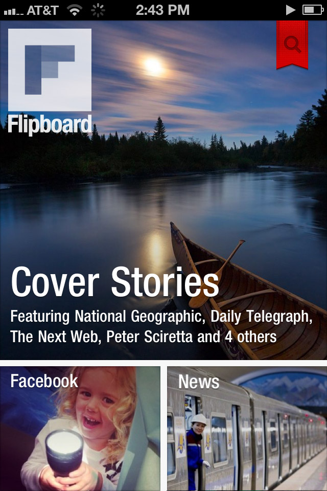 Flipboard for iPhone Cover Stories Screenshot
