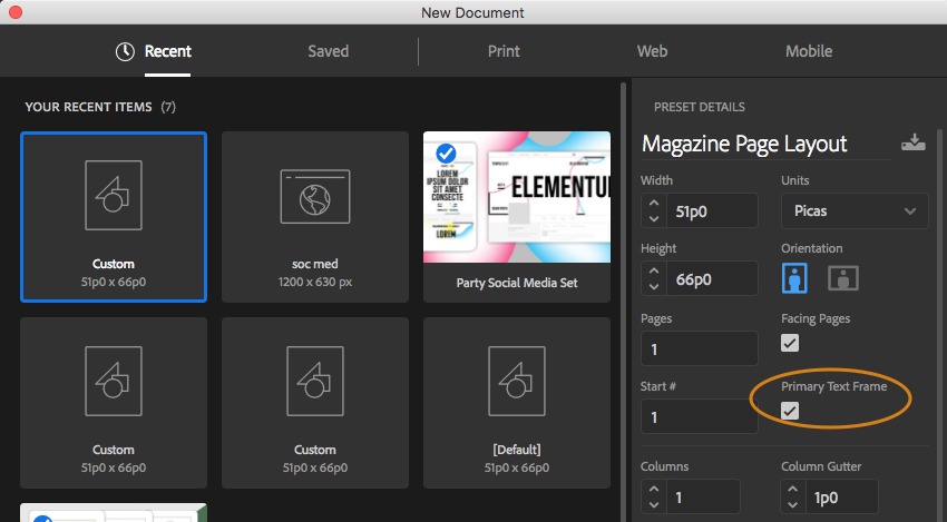 InDesign CS6 Tip: Using Primary Text Frames | Technology for