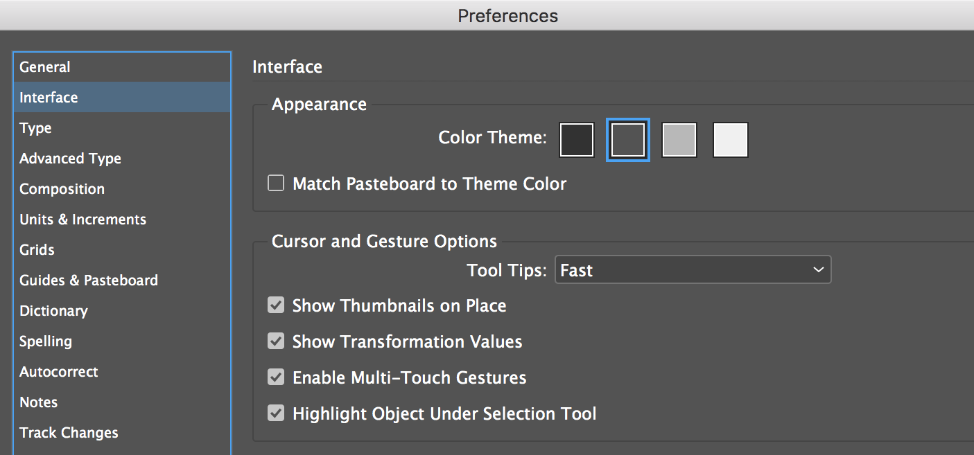 Indesign Tip Interface Color Theme Option Technology For