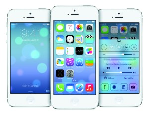iPhone 5 with iOS7