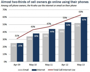 Pew: Cell Internet Use 2013