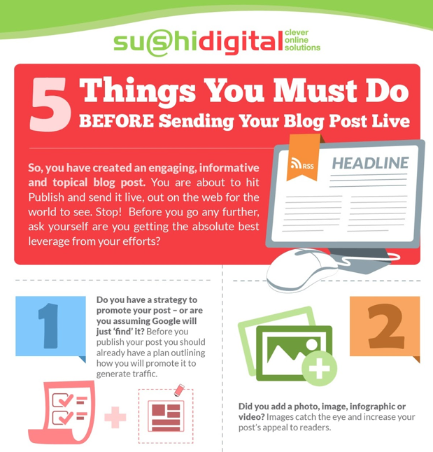 5 Things to Check Before Publishing Your Blog Post [INFOGRAPHIC]