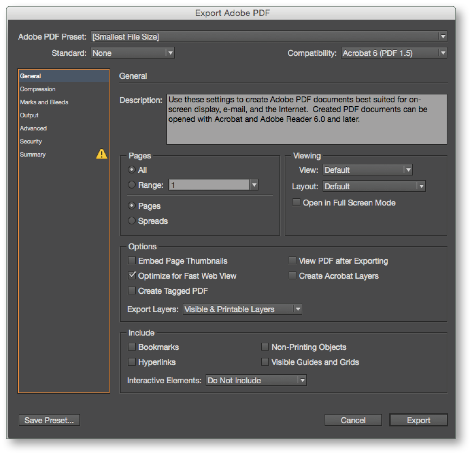 InDesign CC Tip: PDF Export View Options | Technology for Publishing LLC