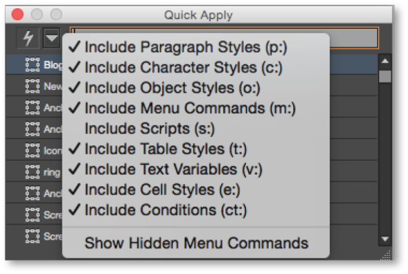 InDesign CC Tip: Quick Apply | Technology for Publishing LLC