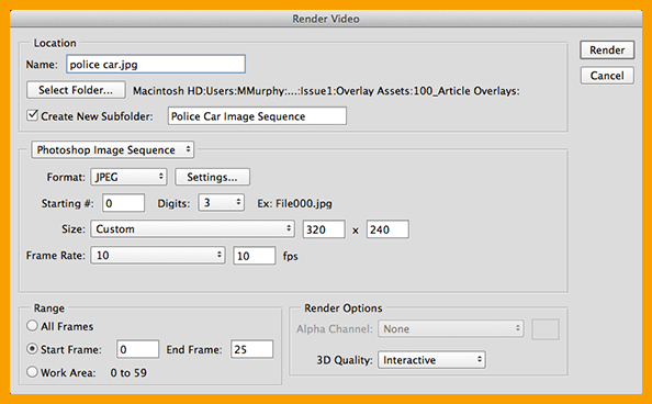 DPS Tip: Use Photoshop's Render Video Option to Create an