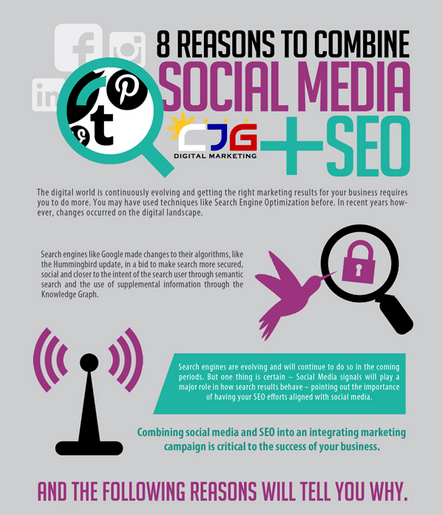social media and seo infographic