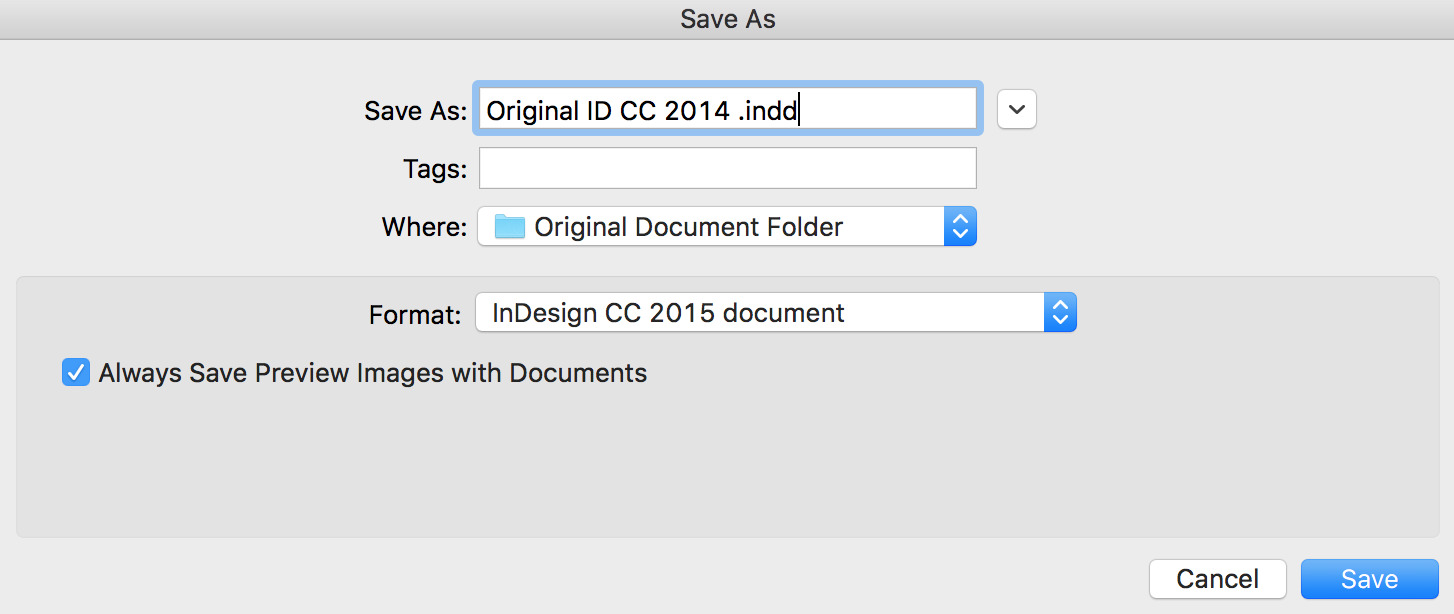 how to save indesign document as pdf