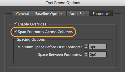how to add footnote indesign