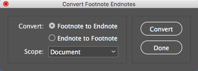 convert footnote endnote