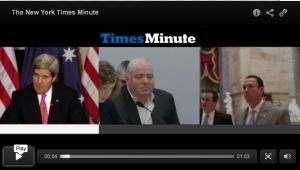The New York Times Minute video screenshot