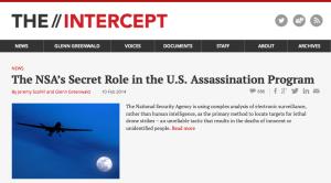 Homepage of The Intercept