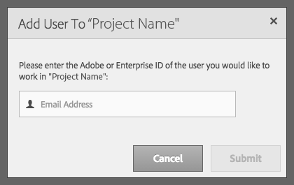 Add user to project