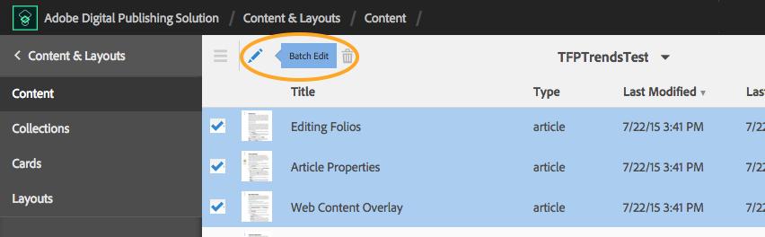 DPS Batch edit
